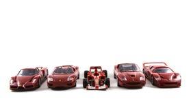 Toy Ferrari Cars royaltyfri fotografi
