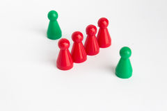 Toy figure on white background,  people concept Royalty Free Stock Images