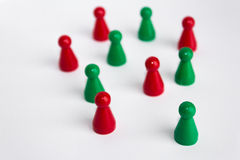 Toy figure on white background,  team concept Royalty Free Stock Photography