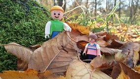Toy figures in the nature Stock Photo