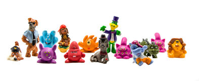 Toy figurines. On a white background isolated Royalty Free Stock Images