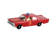 Toy fire chief car. Old toy fire chief car Royalty Free Stock Photo