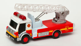 Toy firefighter car. With a ladder attached to it Royalty Free Stock Photography