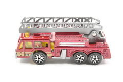 Toy Firetruck. Isolated on a white background Stock Photography