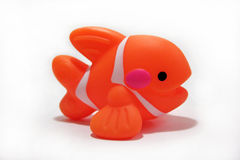 Toy Fish. For baths. Shot on white background Royalty Free Stock Image