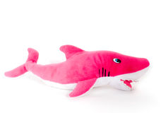 Toy fish. Red colour on white background Royalty Free Stock Images