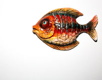 Toy fish. On white background Royalty Free Stock Image
