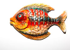Toy fish. On white background Stock Images