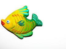 Toy fish. On white background Royalty Free Stock Photography