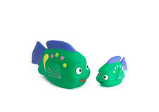 Toy fishes. Isolated over white Royalty Free Stock Photo