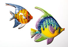 Toy fishes. On white background Stock Photo
