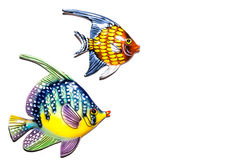 Toy fishes. On white background Royalty Free Stock Photography
