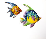 Toy fishes. On white background Stock Images