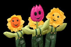 Toy flowers. Four toy flowers stock image