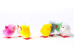 Toy fluffy easter chicks Stock Image
