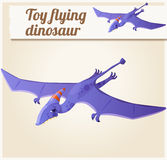 Toy flying dinosaur 5. Cartoon vector illustration Royalty Free Stock Images