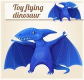 Toy flying dinosaur 7. Cartoon vector illustration Royalty Free Stock Photo