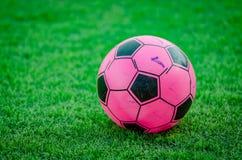 Toy Football cor-de-rosa Fotos de Stock Royalty Free