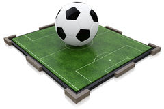 Ball on the soccer field. At registration information related to sport and football Stock Images