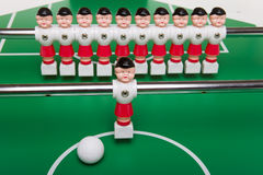 Toy football players Stock Photo
