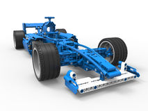 Toy formula one car. 3D rendered illustration of a toy formula one car. The object is  on a white background with shadows Royalty Free Stock Photo
