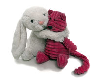 Toy Friends 3. Toys depicting freindship and love Stock Image