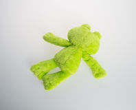 Toy or frog soft toy on the background. Stock Image