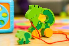 Toy frog Royalty Free Stock Photo
