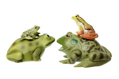 Toy Frogs Stock Photography