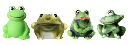 Toy Frogs Stock Photos