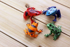Toy Frogs Stock Images