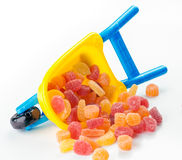 Toy full of sugary jellies Royalty Free Stock Images