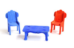 Toy furniture, chair Royalty Free Stock Images