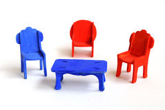 Toy furniture, chair Royalty Free Stock Photos