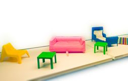 Toy furniture Royalty Free Stock Photo
