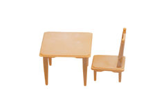Toy furniture. Table and chair. Royalty Free Stock Photography