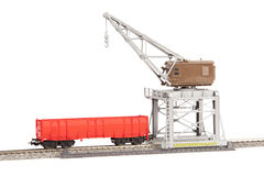 Toy Gantry crane Stock Photography