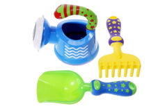 Toy Gardening Tools Stock Photo