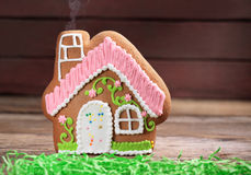 Toy gingerbread house Royalty Free Stock Photo