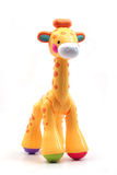 Toy Giraffe. Yellow Plastic Toy Giraffe on a White Background Vector Illustration