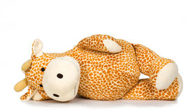 Toy giraffe. On a white background stock photography