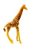Toy giraffe over white Royalty Free Stock Photography