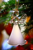 Toy glass angel decoration on the xmas tree. Toy glass angel decoration on the Christmas tree stock photos