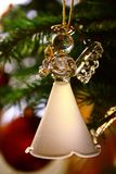 Toy glass angel decoration on the xmas tree. Toy glass angel decoration on the Christmas tree stock images