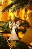 Toy glass angel decoration on the xmas tree. Toy glass angel decoration on the Christmas tree stock image