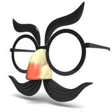 Toy Glasses And Nose Side-Mening vector illustratie