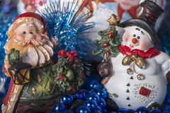 Toy Gnome and Snowman Royalty Free Stock Photo