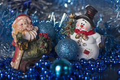 Toy Gnome and Snowman Stock Images
