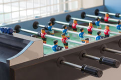 Toy goal football player table. Toy goal football player table in home Royalty Free Stock Photos