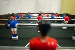 Toy goalkeeper, football, kicker Stock Image